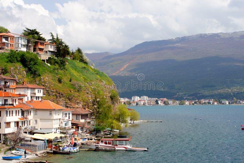 Ohrid, Macedonia. View of Ohrid, city of UNESCO, Macedonia stock photography