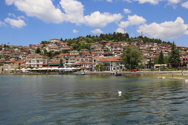 OHRID, MACEDONIA - JUNE 10, 2019: Historical part town Ohrid, UNESCO heritage listed, Republic of North Macedonia. OHRID, MACEDONIA - JUNE 10, 2019: Historical stock photos