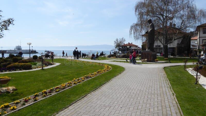 Ohrid, Macedonia, na wielkanocy fotografia royalty free