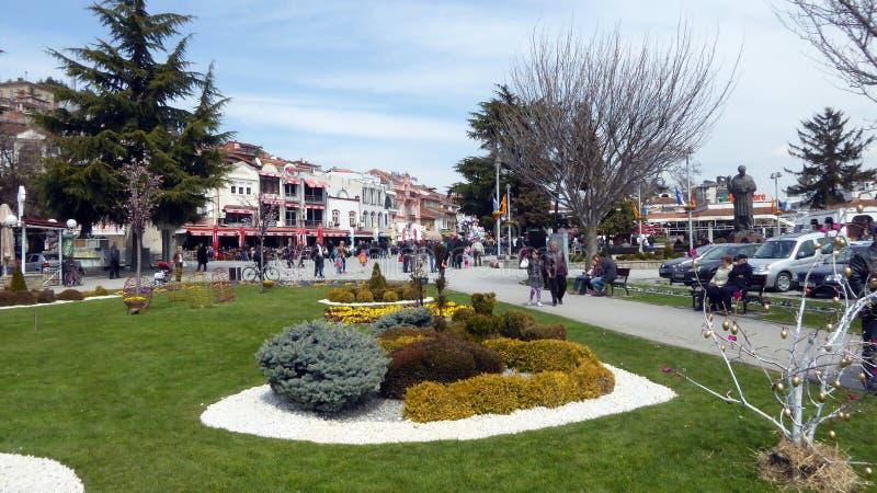 Ohrid, Macedonia, na wielkanocy obraz stock