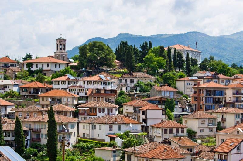 Ohrid miasteczko w Macedonia zdjęcie stock