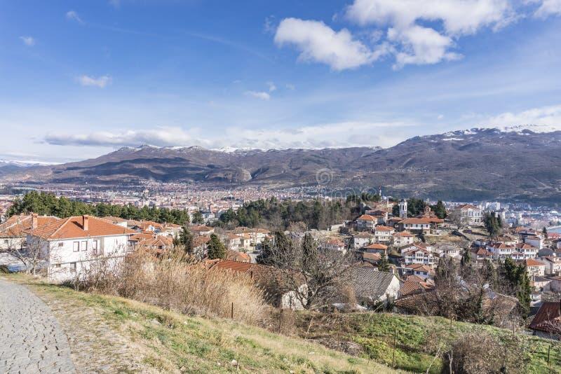 Ohrid stad arkivfoto