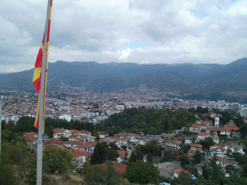 Ohrid - stad på sjön royaltyfri fotografi
