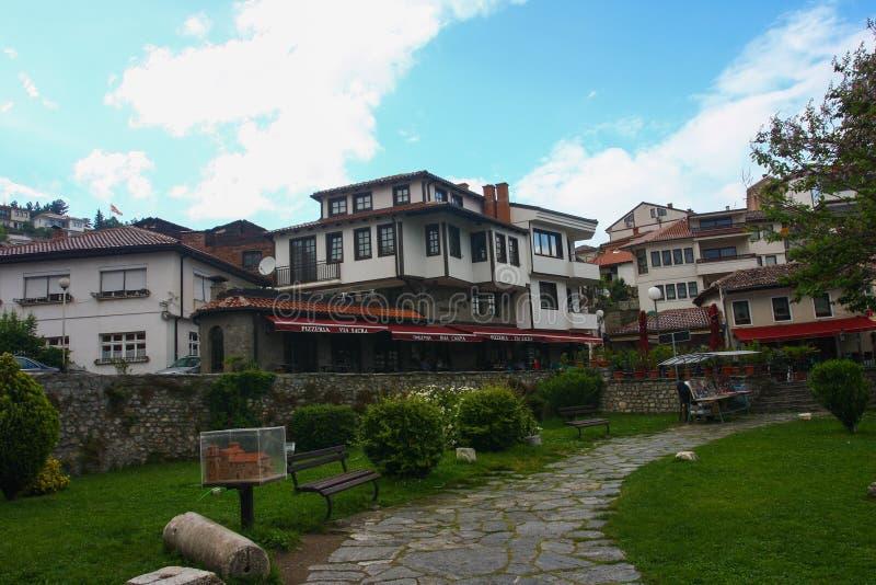 Ohrid Stary miasto, Macedonia obrazy stock