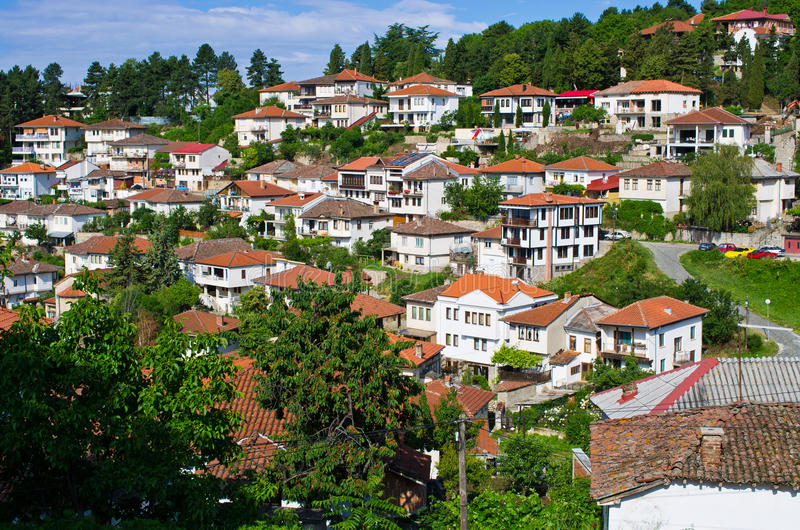 Ohrid town in Macedonia. Ohrid town in Republic of Macedonia royalty free stock image