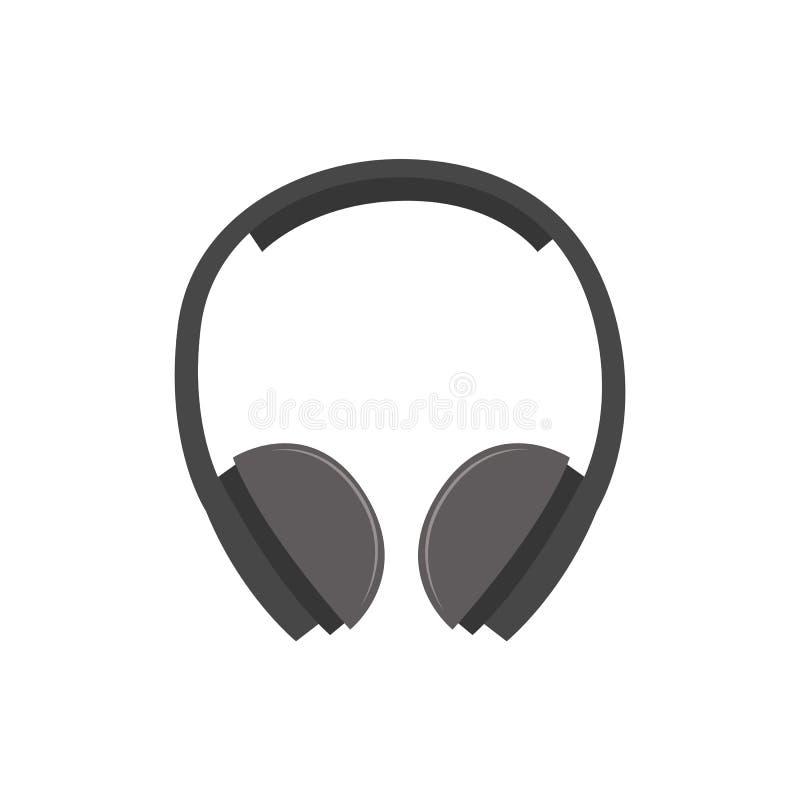 Ohrmuffen- oder -kopfhörervektor des Gehörschutzes industrieller lokalisiert auf Weiß lizenzfreie abbildung