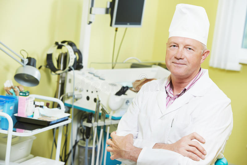Ohrwekzeugspritze thoat Doktor stockfoto