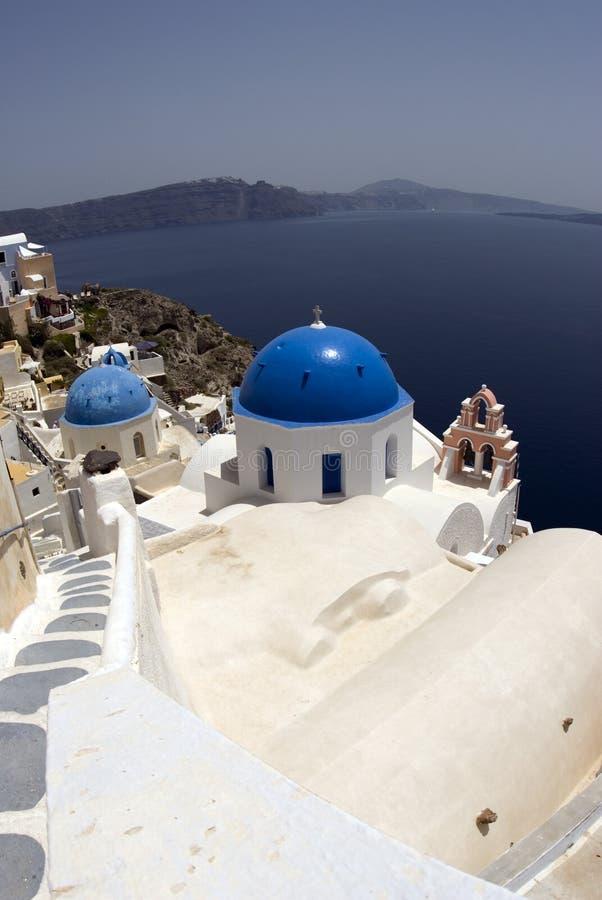 oia νησιών εκκλησιών santorini στοκ εικόνες