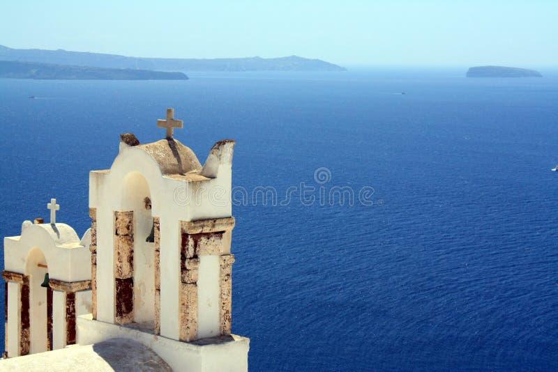oia όψη θάλασσας santorini στοκ εικόνες