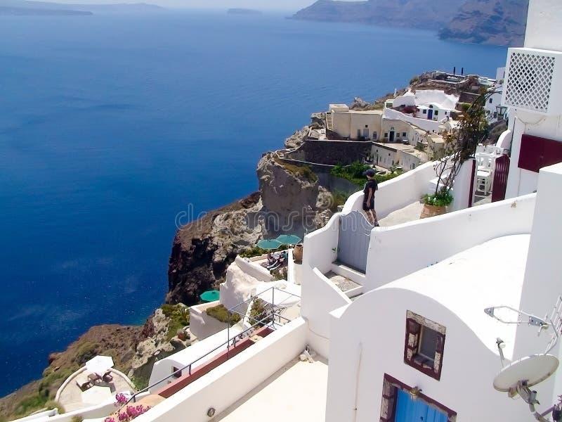 Oia auf Santorini Insel stockfotografie