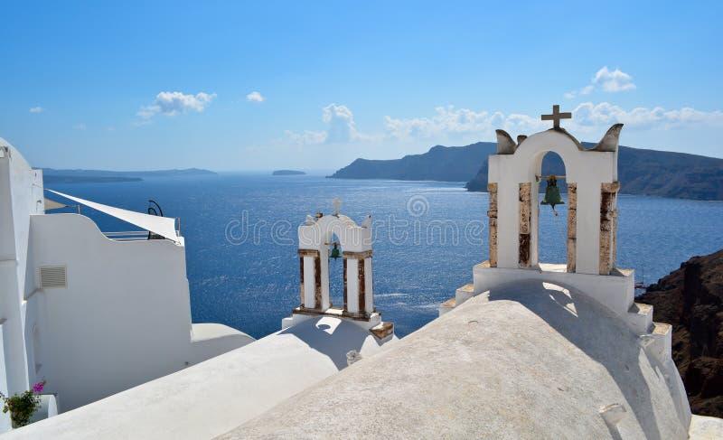 Oia auf Santorini Insel stockfoto