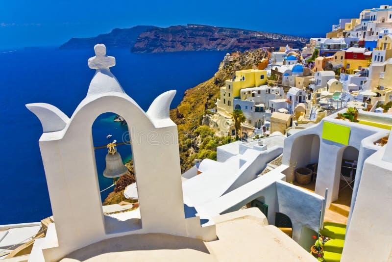Oia bei Santorini stockbilder
