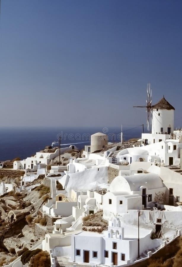 Oia-Dorf, Santorini Insel, Cycladen, griechisch stockfoto