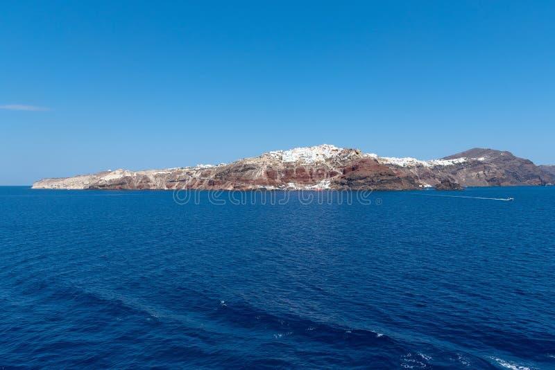 Oia - ilha de Santorini Cyclades - Mar Egeu - Grécia fotografia de stock