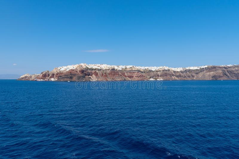 Oia - ilha de Santorini Cyclades - Mar Egeu - Grécia imagem de stock royalty free