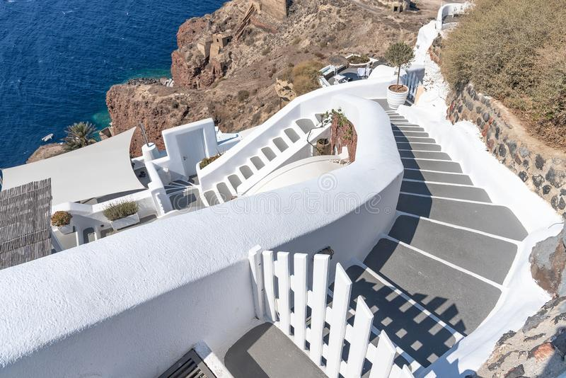 Oia - ilha de Santorini Cyclades - Mar Egeu - Grécia imagem de stock