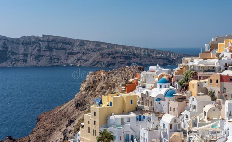 Oia - ilha de Santorini Cyclades - Mar Egeu - Grécia imagens de stock