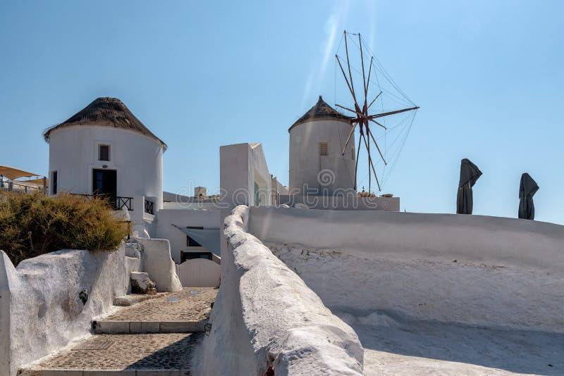 Oia - ilha de Santorini Cyclades - Mar Egeu - Grécia imagens de stock royalty free