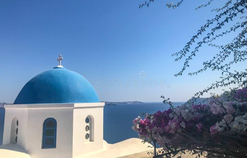 Oia - mooie stad op Santorini Griekenland stock afbeelding