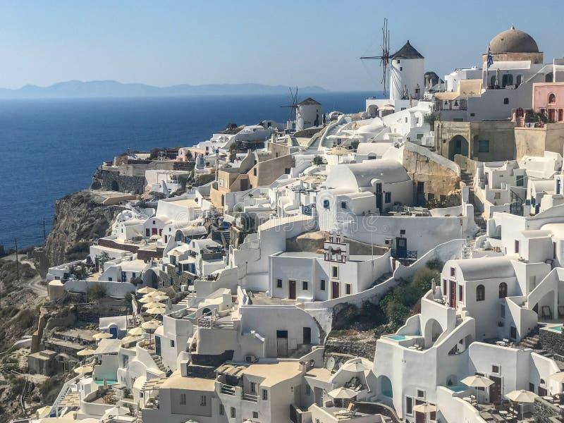 Oia - mooie stad op Santorini Griekenland stock fotografie