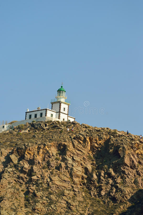 Oia no console de Santorini foto de stock royalty free