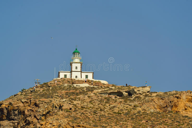 Oia no console de Santorini fotografia de stock