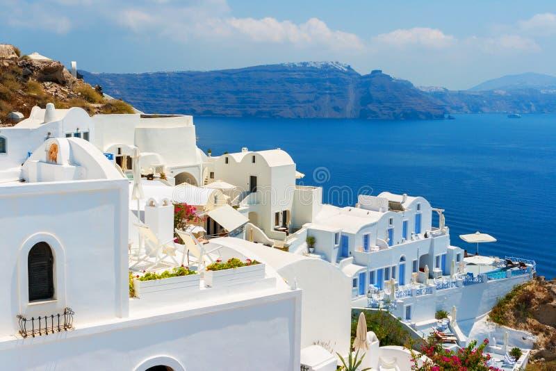 Oia Oia op Eiland Santorini Griekenland stock afbeelding