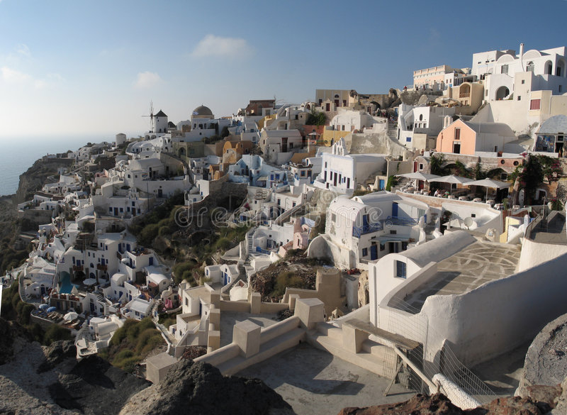 Oia panoramique photographie stock