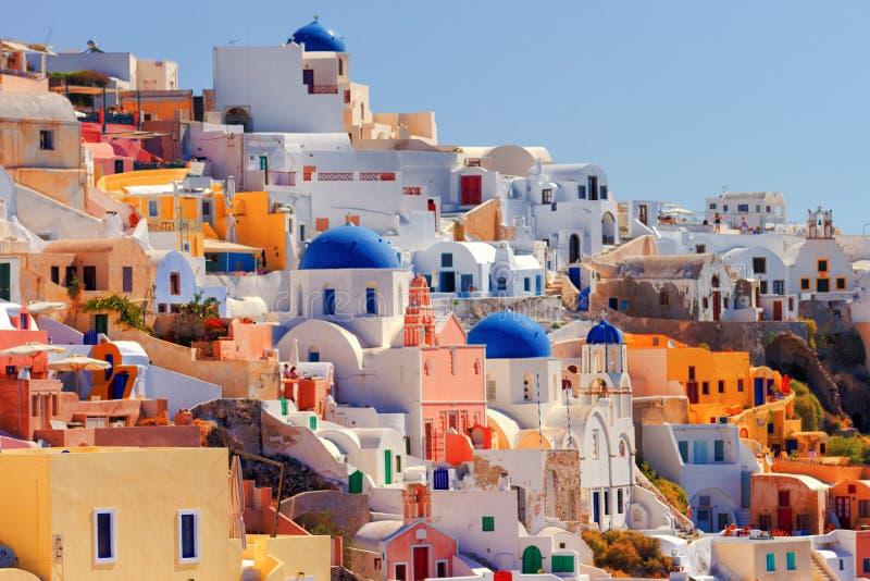 Oia pejzaż miejski, Santorini zdjęcie royalty free