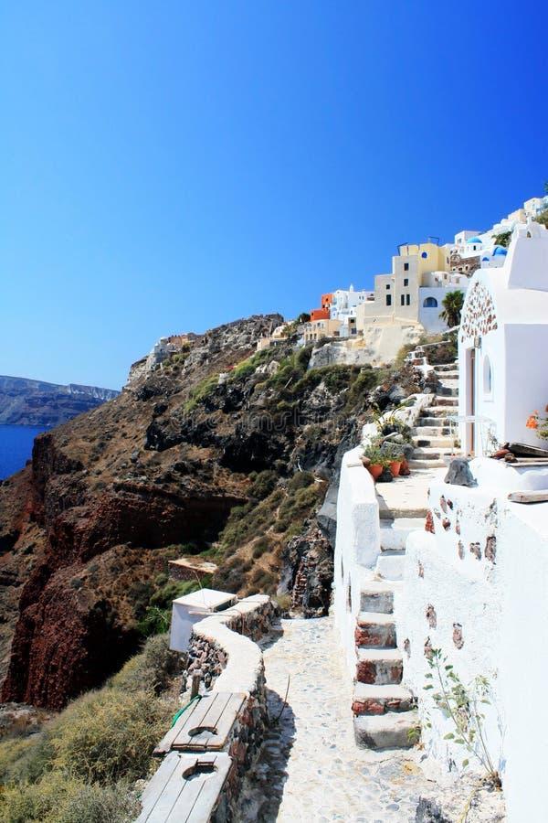 Oia - Santorini stock afbeeldingen