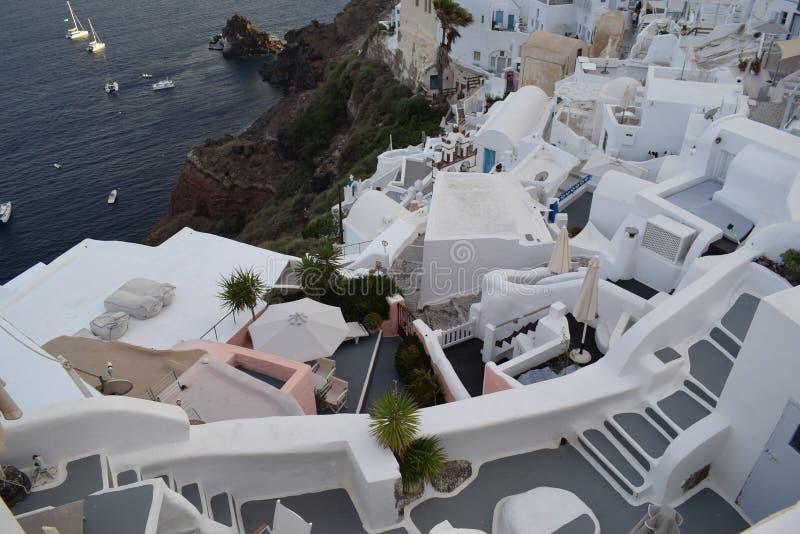 Oia, Santorini, een plaats u wil zijn royalty-vrije stock foto