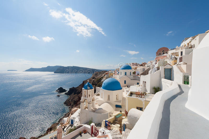 Oia Santorini Grecia foto de archivo