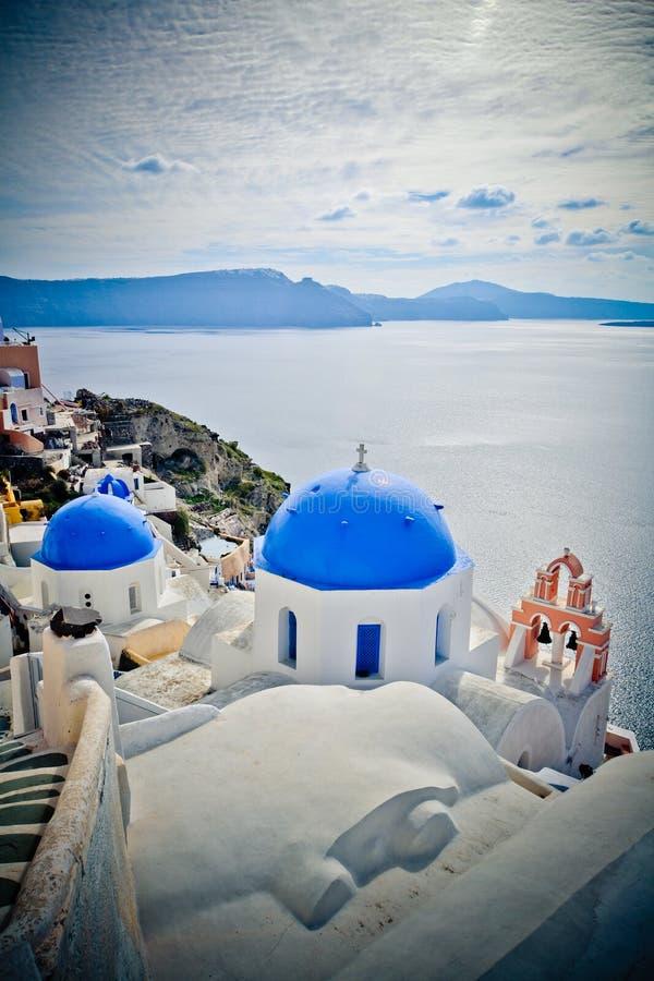 Oia Santorini in Greece. Beautiful day in Oia Santorini Greece royalty free stock photography