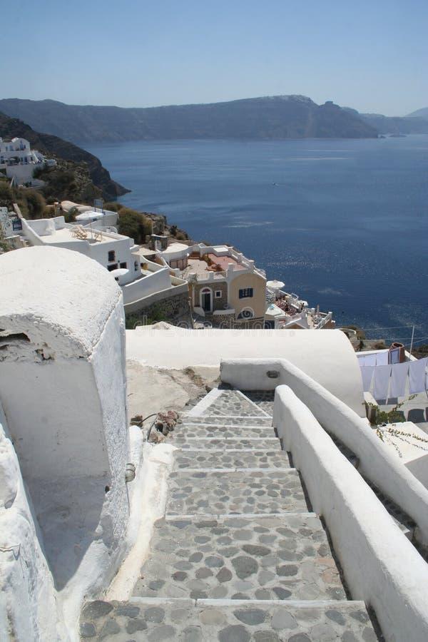 Oia Santorini Grekland fotografering för bildbyråer