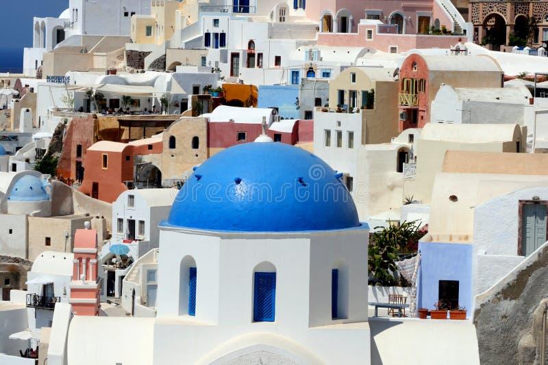 Oia. Santorini Insel, Griechenland stockfotos