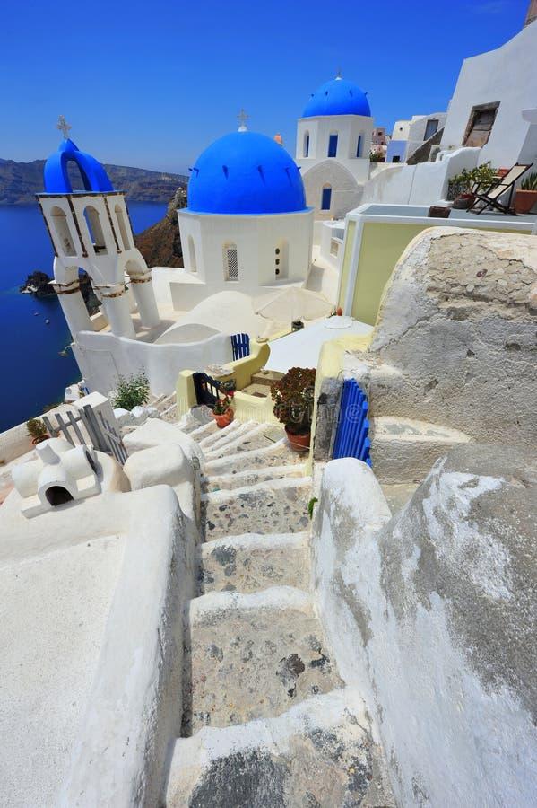 Oia Santorini (Thira) Greece - Island White Stock Photography