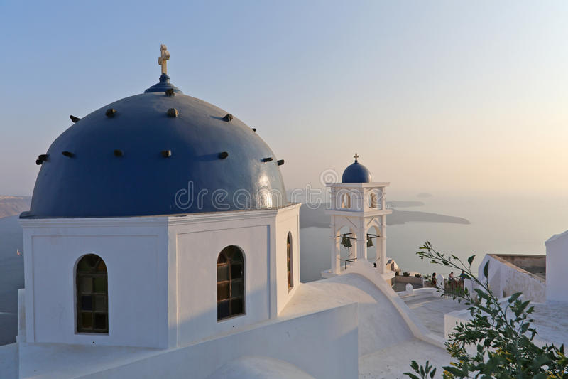 Oia sull'isola di Santorini fotografie stock