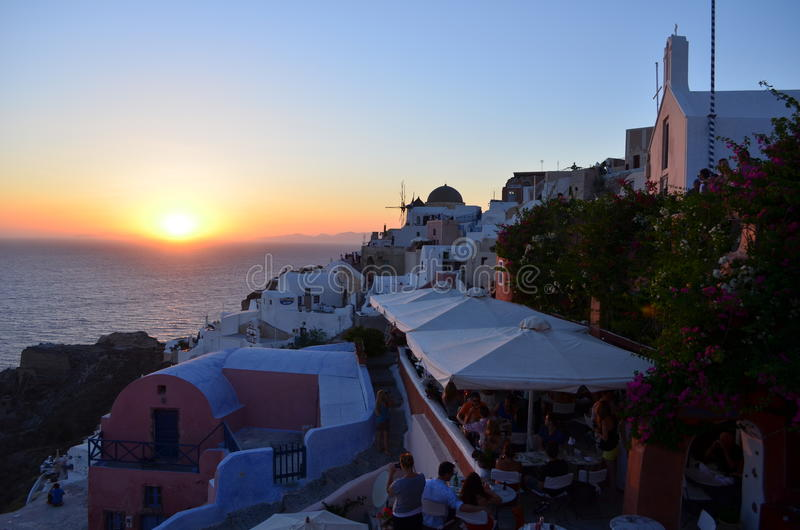 Oia Sunset stock image