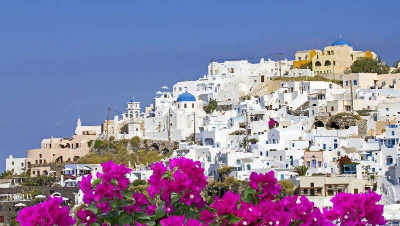 Oia sur l'île de Santorini images libres de droits