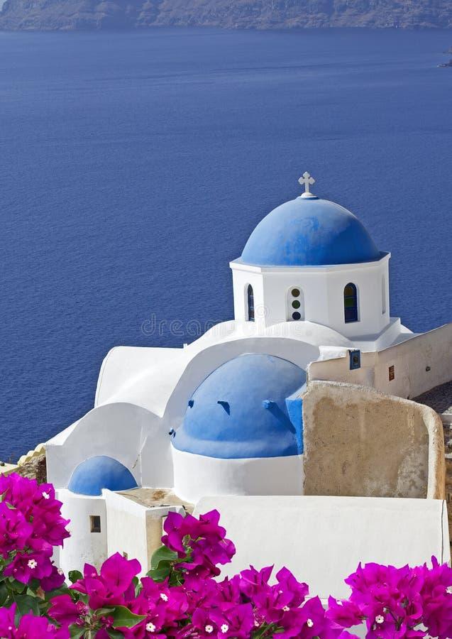 Oia sur l'île de Santorini image libre de droits