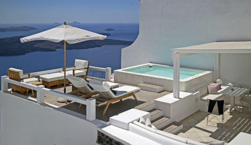 Oia sur l'île de Santorini image stock