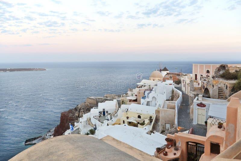 Oia sur l'île de Santorini photos stock