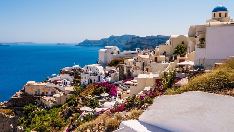 Oia sur l'île de Santorini La Grèce images stock