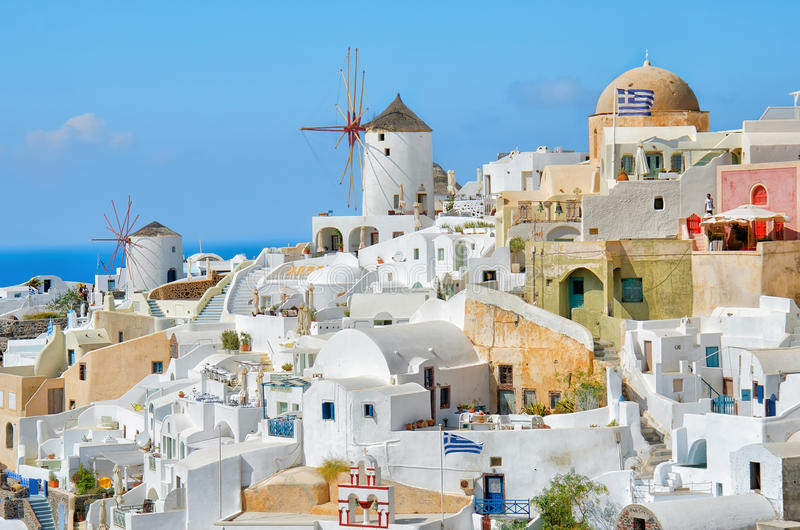Oia town, Santorini, Greece stock photo