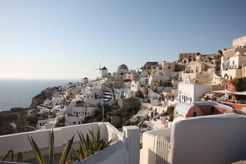 Oia town. Santorini island royalty free stock photos