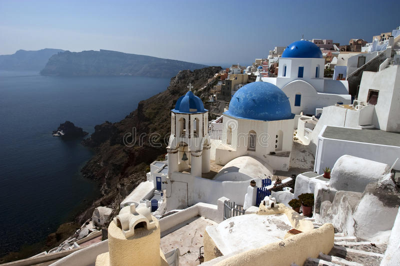 Download Oia Village stock image. Image of picturesque, church - 12064189