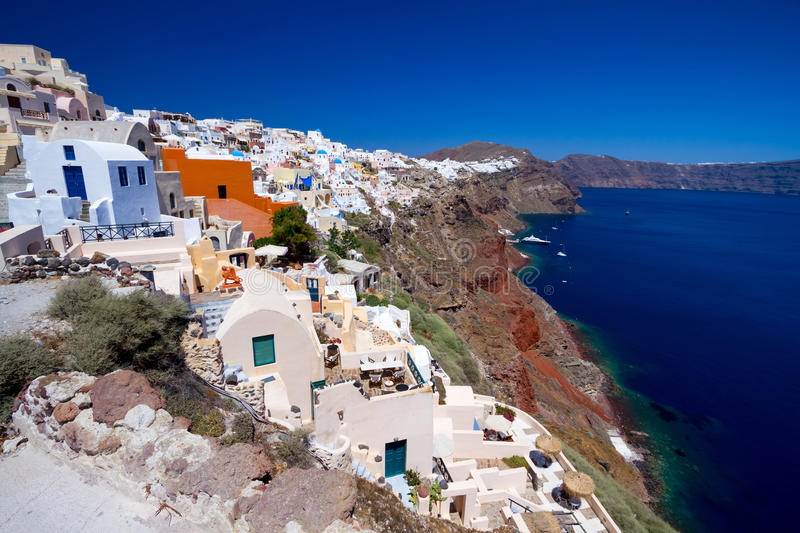 Download Oia village on Santorini stock photo. Image of beautiful - 25490972