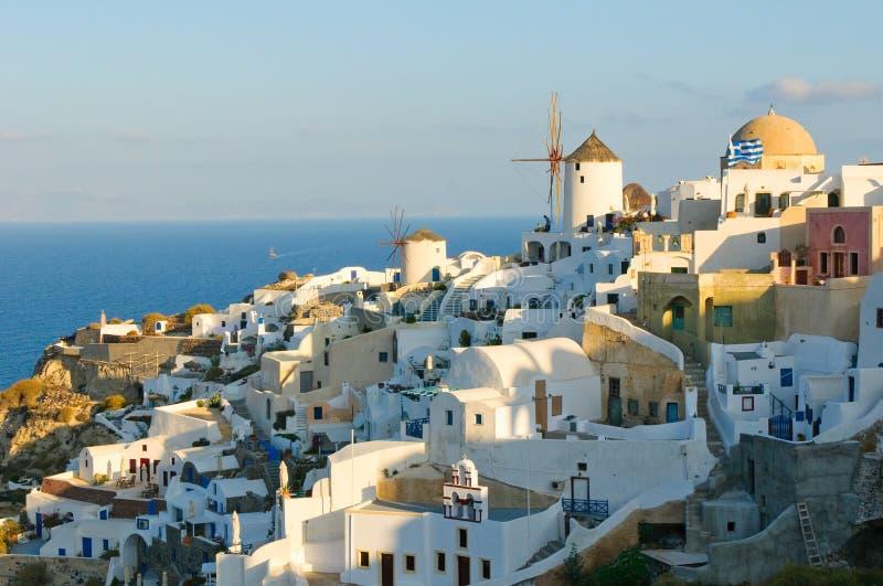 Oia village at Santorini island, Greece stock image