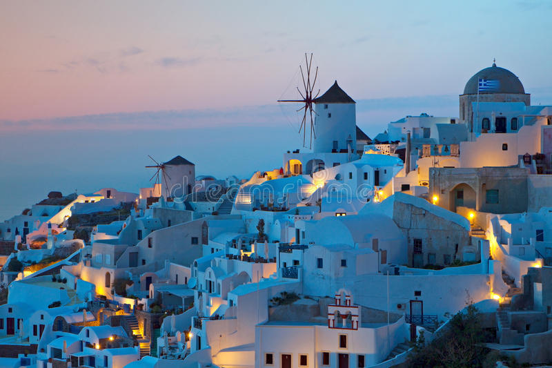 Download Oia Village At Santorini Island In Greece Royalty Free Stock Images - Image: 24322559