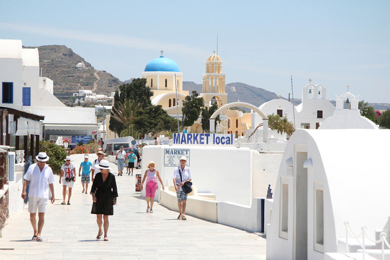 Download Oia village, Santorini editorial photography. Image of architecture - 34305992